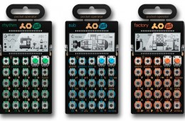 Mini sintetizadores Teenage Engineering Pocket Operator, ya disponibles