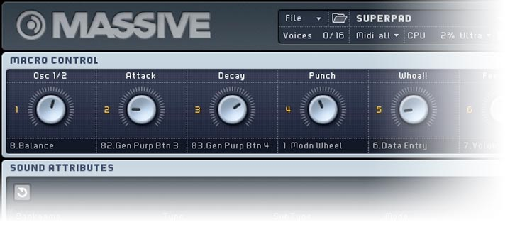 Native Instruments Massive: configuración MIDI