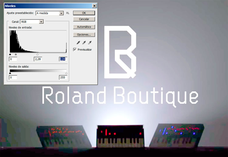 Roland Boutique, Análisis en Adobe Photoshop